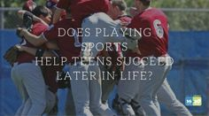 SPORTS can teach social skills, self-discipline, and respect for authority.