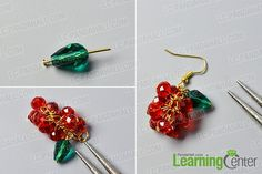 Step 2: Finish the rest part of these beaded Christmas earrings