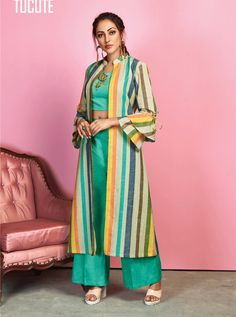 KARMA TUCUTE TC-432 TO TC-438 SERIES DESIGNER CROP TOP AND PLAZZO WITH FULL SHRUG STYLE OCCASIONAL WEAR AND PARTY WEAR KURTIS AT WHOLESALE PRICE AT DSTYLE ICON FASHION CONTACT: +917698955723