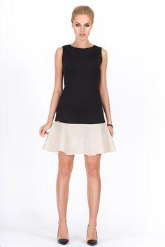 Makadamia M188 Sukienka -  wzór 2 czarno biała