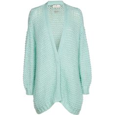 Limola cardigan ❤ liked on Polyvore featuring tops, cardigans, green top, green cardigan, open knit cardigan, open stitch cardigan and cardigan top