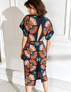 Celeste Silk Dress (Navy)