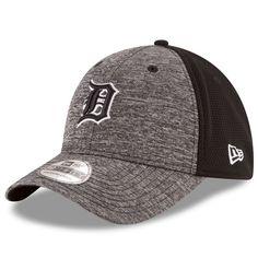 Detroit Tigers New Era Black Shadowed Team 39THIRTY Flex Hat - Heather Grey, Black - $27.99