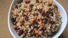Quinoa with mushrooms and Adzuki Beans