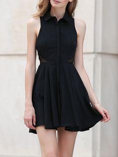Mesh Inset Cocktail Dress