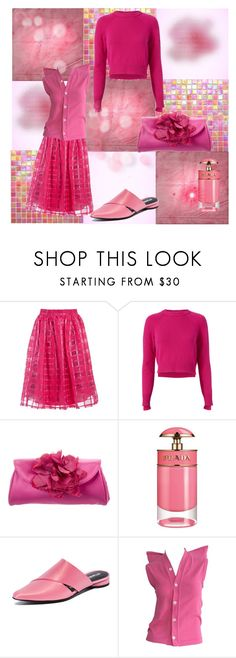 """My very pink set💗"" by feralkind ❤ liked on Polyvore featuring Sans Souci, Helmut Lang, Kate Spade, Prada, Opening Ceremony and Comme des Garçons"