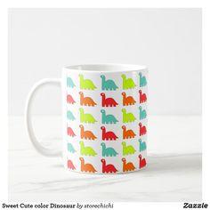 Sweet Cute color Dinosaur