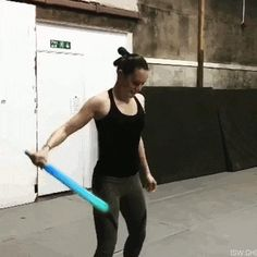 Rey getting her spinny lightsaber moves down to beat Kylo at his own game :)