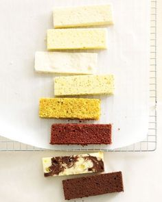 Wedding Cake Recipes: white butter, moist yellow, almond dacquoise, lemon poppy seed, carrot, red velvet, marble and chocolate butter