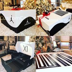 size / dimensions: Size varies Giant custom jordan shoe boxes that can store pairs of shoes. Comes in two sizes medium and large. Medium fits and large Jordan Shoe Box Storage, Giant Shoe Box Storage, Shoe Storage, Storage Boxes, Custom Jordan Shoes, Shoe Box Design, Sneaker Storage, Pinterest Room Decor, Sneakers Box