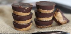 """PaleOMG Chocolate Almond Butter Cups - these look amazing. Although """"healthy"""" is entirely relative here. Yum!"""