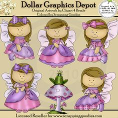 Butterfly Angels 1 - Clip Art - $1.00 : Dollar Graphics Depot, Quality Graphics ~ Discount Prices