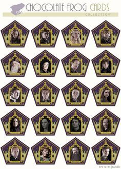 Harry Potter Chocolate frogs cards: we could print them twice and play Memory!