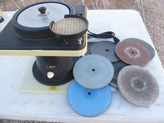 This All-U-Need Diamond Lapidary Cabbing Machine REALLY IS All-You-Need!!   http://rocksinmyhead.biz/QUALITY-PRE-LOVED_c223.htm  RocksInMyHead™ is a Unique Rock, Prospecting  Outdoor Adventure Company.   For gold prospecting, rockhounding,  lapidary tools, supplies, equipment, books, maps, plus lots of great rocks, minerals, fossils,  meteorites, go to our website http://RocksInMyHead.biz.