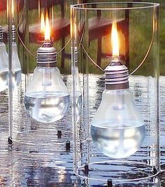 Bright Ideas to Recycle Old Light Bulbs | Light Bulb Projects: Tiki Torch