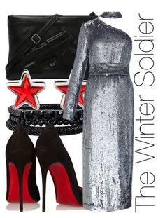 """""""The Winter Soldier"""" by fabulousgurl ❤ liked on Polyvore featuring Spring Street, Christian Louboutin, Givenchy, Kalmanovich, disneybound and civilwar"""