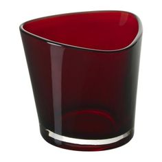 red glass tealight from ikea $2.49