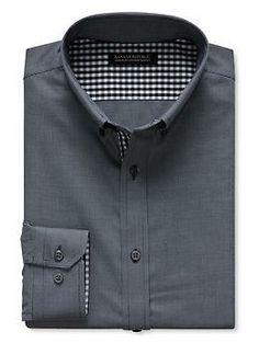 Tailored Slim-Fit Non-Iron Textured Button-Down Shirt | Banana Republic