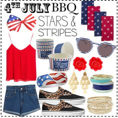 """!What to Wear: Fourth of July BBQ!"" by gmutabazi on Polyvore"