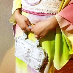 French Fabric Bag with Kimono New Japanese style   #kimono w Fabiric Bag