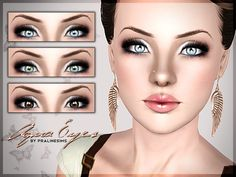 Aqua realistic eyes by Pralinesims - Sims 3 Downloads CC Caboodle