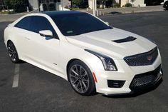 Satin Pearl White Cadillac ATS-V Wrap