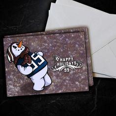 Houston Texans JJ Watt Snowman Christmas Card 5 Pack