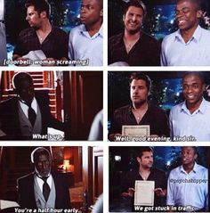 Oh, the Clue episode. How is this show so hilarious? Psych Memes, Psych Tv, Psych Quotes, Movie Quotes, Funny Memes, Shawn And Gus, Shawn Spencer, Movies Showing, Movies And Tv Shows