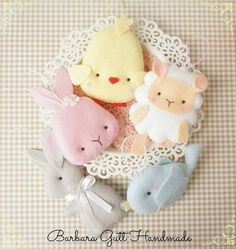 cute felt figures for Easter - Barbara Handmade