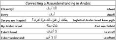 Correcting a Misunderstanding in Arabic - Learn Arabic