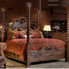 4-Poster King Bed | Brumbaugh's Fine Home Furnishings | Upscale | Western | Fort Worth TX