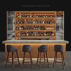 Bar Interior Design, Pub Design, Restaurant Design, Home Bar Counter, Bar Counter Design, Home Bar Rooms, Home Bar Decor, Home Bar Essentials, Casa Retro