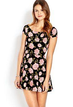 Darling Rose Skater Dress | FOREVER21 - 2000069950