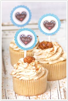 Gebrannte Mandel-Cupcakes Oktoberfest Party, Sweet Cupcakes, Love Cupcakes, Cake & Co, Eat Cake, Party Desserts, No Bake Desserts, Cupcake Factory, Just Bake