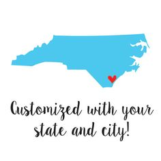 [State Love Printable]  This printable will be customized with your colors and state/city of choice!  Visit the listing for additional info! $10