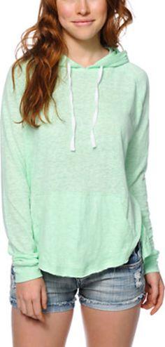 Zine Sandy Neon Mint Pullover Hoodie