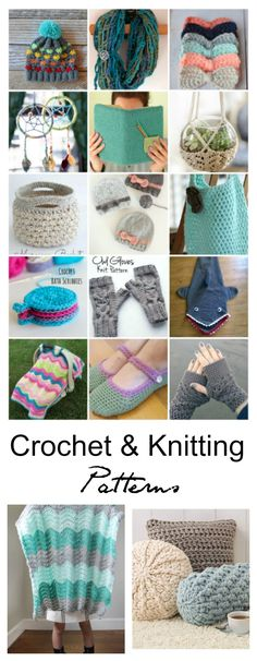 crochet ideas| Whether you Crochet or Knit or want to learn, these Free Crochet and Knitting Patterns below are a great place to look for your next project.