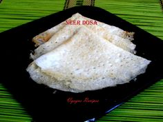 Neer Dosa - Neeru Dosa - Kobbari Dosa - With step wise pictures. South Indian Breakfast Recipes, Coconut, Yummy Food, Delicious Food