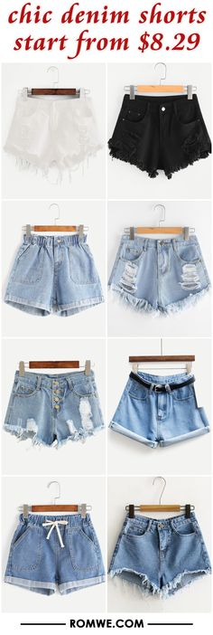 chic denim shorts from $8.29