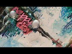 Layout Happy Day - Video Process Parte 2 - Giuliana Ballatore per Piccol. Medium Art, Happy Day, Mixed Media Art, Layout, Christmas Ornaments, Holiday Decor, Page Layout, Christmas Jewelry, Mixed Media