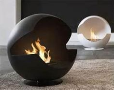 Round Shape Cool Fireplace