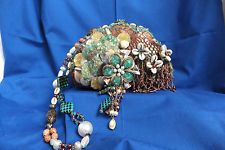 Vintage  Mary Frances Handbag-Sea Blues and Greens Shells Pre-owned