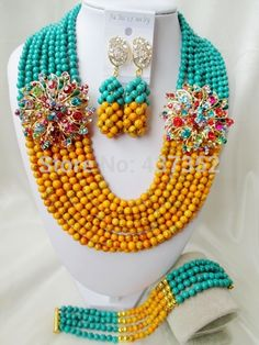 Online Shopping at a cheapest price for Automotive, Phones & Accessories, Computers & Electronics, Fashion, Beauty & Health, Home & Garden, Toys & Sports, Weddings & Events and more; just about anything else Turquoise Party, Orange And Turquoise, Turquoise Beads, Green And Orange, Diy Store, China Jewelry, African Beads, Wedding Events, Weddings