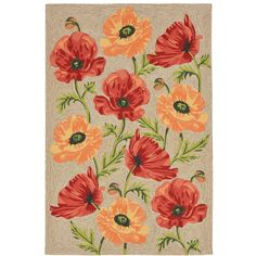 Liora Manne Ravella Icelandic Poppies Hand Tufted Rectangular Rugs -... ($365) ❤ liked on Polyvore featuring home, rugs, white area rug, liora manne rug, rectangular area rugs, liora manne area rug and rectangle rugs