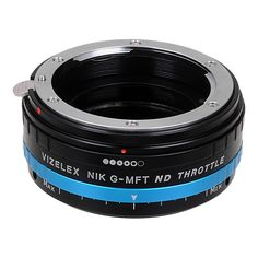 Vizelex ND Throttle Lens Mount Adapter from Fotodiox Pro - Nikon G (FX, DX & Older) Lens to Micro-4/3 Mount Cameras (such as OM-D E-M10, Lumix GH4, and Black Magic Pocket) - with Built-In Variable ND Filter (ND2-ND1000)