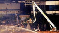 A team of 30 safety inspectors will launch a blitz on major building sites across Sydney and regional NSW in response to the Barangaroo fire and other major work site accidents. Firefighter, Battle, Fair Grounds, Building, Fun, Travel, Viajes, Buildings, Firefighters