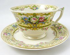 Syracuse China Old Ivory Tea Cup and Saucer, Made in America, Vintage Cup and Saucer