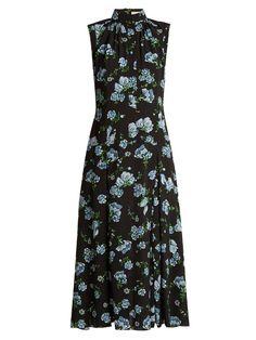 EMILIA WICKSTEAD Jolene Floral-Print Georgette Dress. #emiliawickstead #cloth #dress