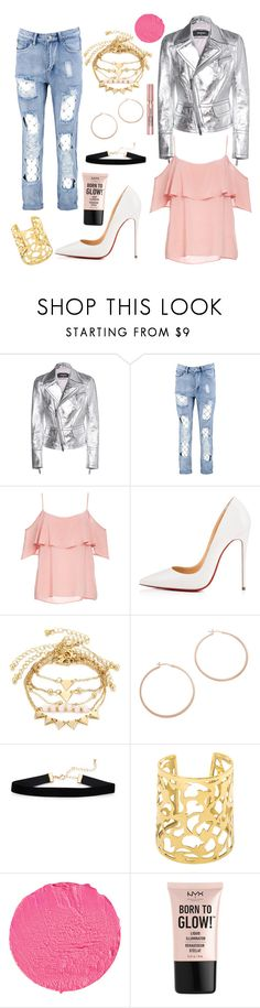 """How To Be A Heart Breaker"" by wickedcitrine ❤ liked on Polyvore featuring Dsquared2, Boohoo, BB Dakota, Christian Louboutin, Jennifer Zeuner, Givenchy, NYX and L'Oréal Paris"