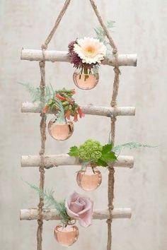 – # decoration - New Deko Sites Diy Home Crafts, Diy Arts And Crafts, Wood Crafts, Diy Home Decor, Deco Champetre, Deco Nature, Branch Decor, Deco Floral, Ladder Decor